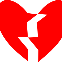 Broken Heart Vector Art