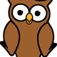 Brown Cartoon Owl Vector Clipart