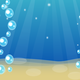 Bubbles in the water vector clipart