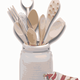 Bunch of wooden cooking spoons vector files