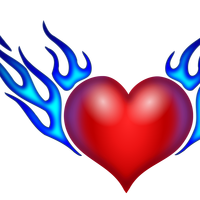 Burning Heart Vector Art