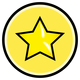 Button With Yellow Star Vector Clipart