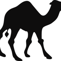 Camel Silhouette Vector Graphic
