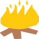 Camp Fire Vector Clipart