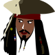 Captain Jack Sparrow Vector Clipart