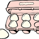 Carton of Eggs vector clipart
