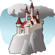 Cartoon Castle Vector Art