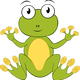 Cartoon Frog Vector Clipart