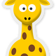Cartoon Giraffe Vector Art