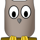 Cartoon Owl Perched on Tree