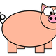 Cartoon Piggy Vector Clipart