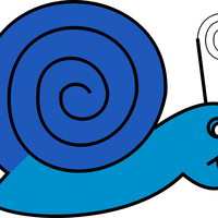 Cartoon Snail Vector Clipart