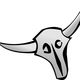 Cattle Skull Vector Clipart