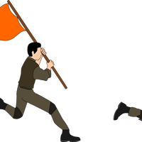 Charging Soldiers Vector Clipart