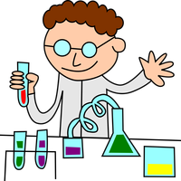 Chemist in lab vector clipart