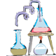 Chemistry experiment vector clipart