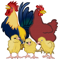 Chickens Vector Clipart