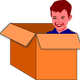 Child in a box vector clipart