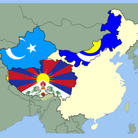 Chinese separatism factions Vector Clipart