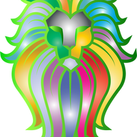 Chromatic Lion Face