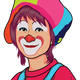 Clown face Vector clipart