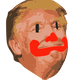 Clown in Chief, Donald Trump Face Vector Clipart