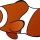 Clownfish Cartoon vector clipart