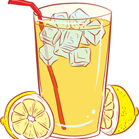 A cold glass of lemonade vector graphic
