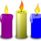 Colored Candles Vector Clipart