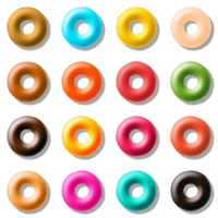 Colored Donuts Vector Clipart