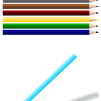 Colored Pencils Vector Clipart