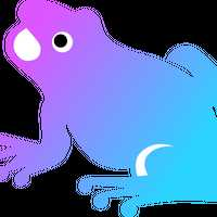 Colorized Frog Vector Clipart