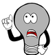 Confused Idea Lightbulb Vector Clipart