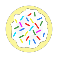 Cookie with Sprinkes Vector Art