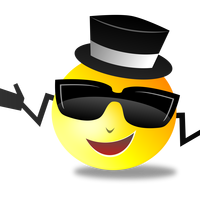 Cool Smiley vector clipart