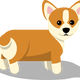 Corgi Dog Vector Clipart