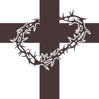 Cross and Thorns vector clipart