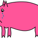 Crying Pig Vector Clipart