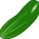 Cucumber Vector Clipart