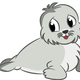 Cute Baby Seal Drawing vector clipart
