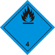 Danger when Flammable Sign Vector Clipart