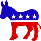 Democratic Donkey vector clipart