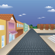 Digitally Rendered Town vector file