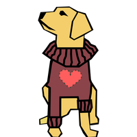 Dog in Valentine's Day Shirt Vector Clipart