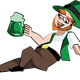 Drunk and Wasted Leprechuan Vector Clipart