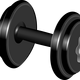 Dumbbells vector clipart
