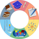 Education Wheel Vector Clipart