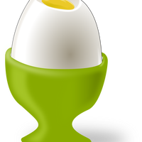 Egg in Cup Vector Clipart
