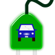 Electric Car on Plug vector clipart