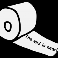 End is near Toilet Paper vector clipart